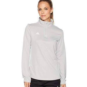 Grey quarter zip pullover athletic sweatshirt new